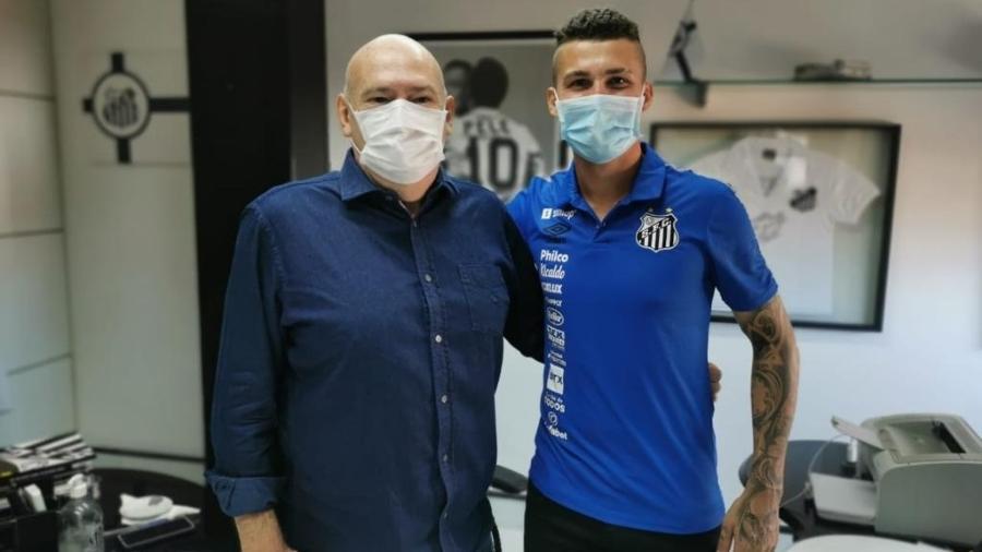Danilo Boza é o novo reforço do Santos - Divulgação/ Santos FC