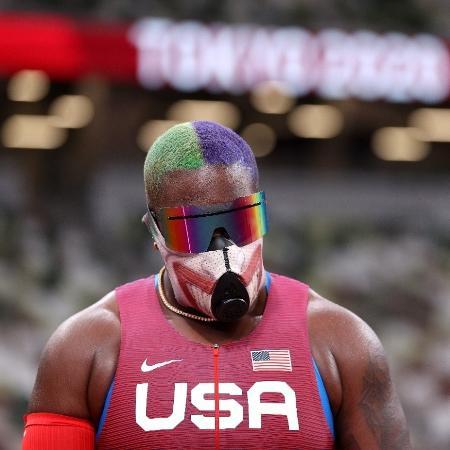 Raven Saunders, atleta de arremesso de peso dos Estados Unidos - Patrick Smith/Getty Images