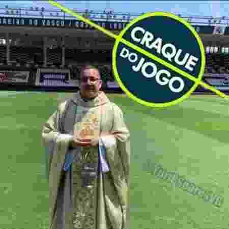 """Após benzer gramado de São Januário e Vasco vencer, Padre Julinho vira meme nas redes sociais: """"craque do jogo"""" - Divulgação - Divulgação"""