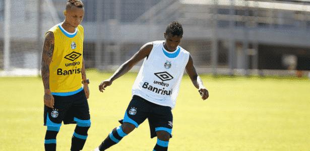 Bolaños participa de treinamento do Grêmio e poderá estrear diante da LDU - Lucas Uebel/Divulgação/Grêmio
