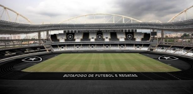 Assim ficará o Engenhão depois dos retoques que o Botafogo dará  - Divulgação