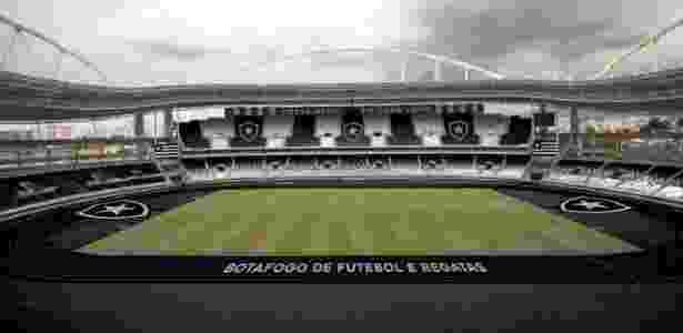 Assim ficará o Engenhão depois dos retoques que o Botafogo dará  - Divulgação - Divulgação