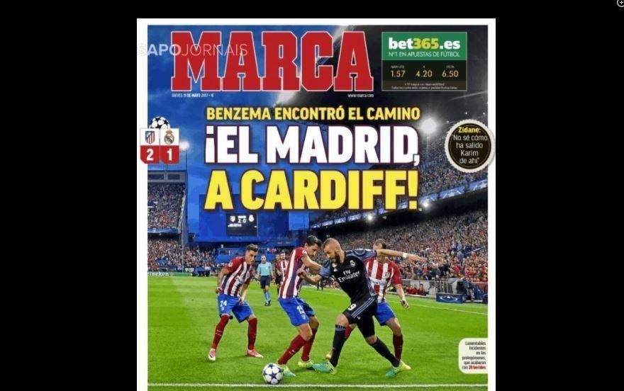 Marca repercute Atlético de Madri x Real