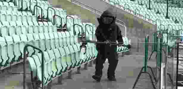 Policial participa de treinamento antiterrorismo no Allianz Parque - Divulgação - Divulgação