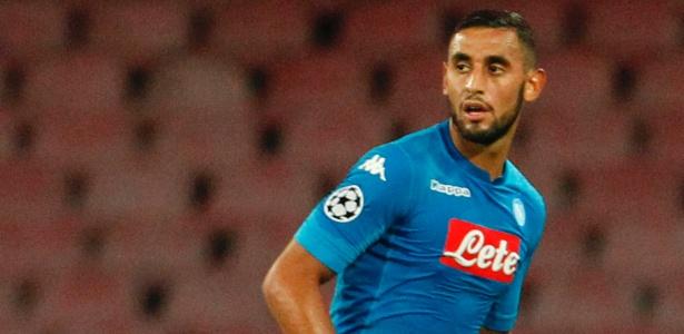 Francês naturalizado argelino, Faouzi é destaque do Napoli - CARLO HERMANN/AFP