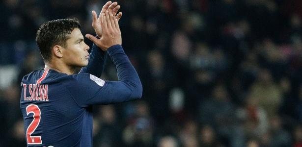 Desde que chegou ao PSG, Thiago Silva atuou em 262 partidas - Geoffroy VAN DER HASSELT / AFP