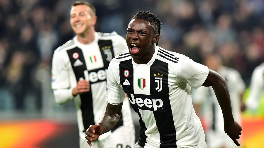 Moise Kean comemora gol da Juventus contra a Udinese pelo Campeonato Italiano  - Massimo Pinca/Reuters