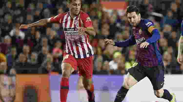 Messi contra o Atlético de Madri - LLUIS GENE/AFP - LLUIS GENE/AFP