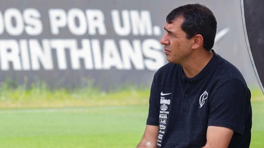 Fábio Carille durante treino do Corinthians - Daniel Augusto Jr./Agência Corinthians