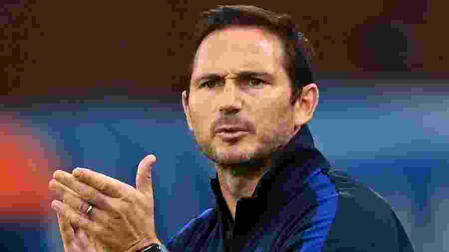 O técnico do Chelsea, Frank Lampard, durante jogo contra o Crystal Palace - Darren Walsh/Chelsea FC via Getty Images
