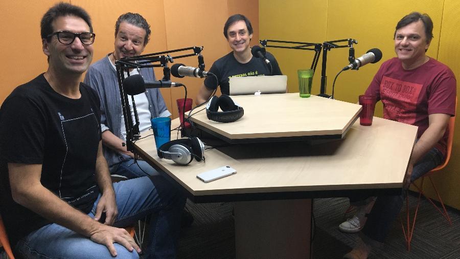 Arnaldo Ribeiro, Juca Kfouri, Eduardo Tironi e Mauro Cezar Pereira no Posse de Bola - UOL