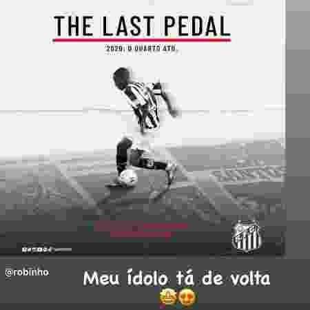 Neymar celebrou o retorno do atacante Robinho ao Santos - Reprodução/Instagram - Reprodução/Instagram