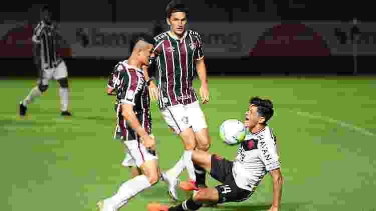 Egídio e Matheus Ferraz foram mantidos por Marcão mas não fizeram boa partida contra o Vasco - ALEXANDRE DURÃO/ESTADÃO CONTEÚDO - ALEXANDRE DURÃO/ESTADÃO CONTEÚDO