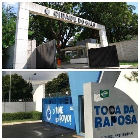 """Rotina nos CT""""s de Cruzeiro e Atlético-MG sofreu alterações a pedido de Scolari e Sampaoli - Montagem sobre fotos de Bruno Cantini e Guilherme Piu"""