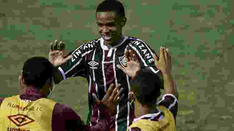 Kayky marcou seu primeiro gol como profissional na goleada do Fluminense sobre o Macaé - Thiago Ribeiro/AGIF - Thiago Ribeiro/AGIF