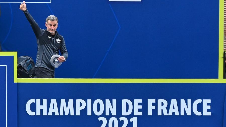 Christophe Galtier foi campeão francês com o Lille em 2021 - DENIS CHARLET/AFP