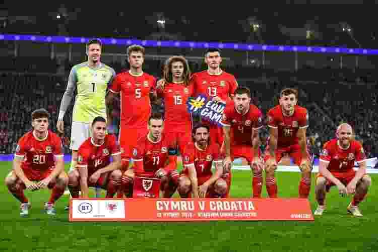 Seleção do País de Gales em partida contra a Croácia, em 2019 - Divulgação - Divulgação
