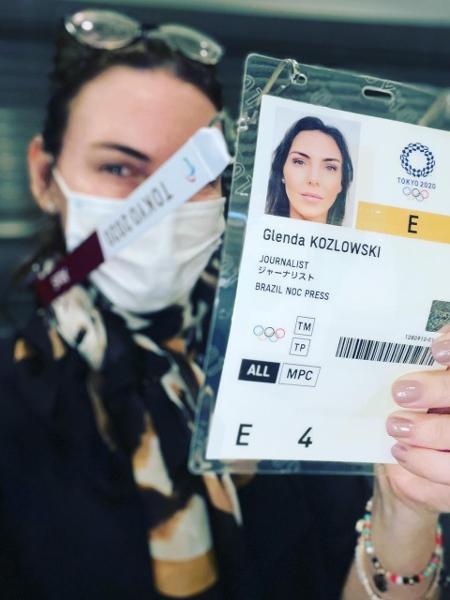 Glenda Kozlowski está em Tóquio para a cobertura das Olimpíadas - Arquivo Pessoal