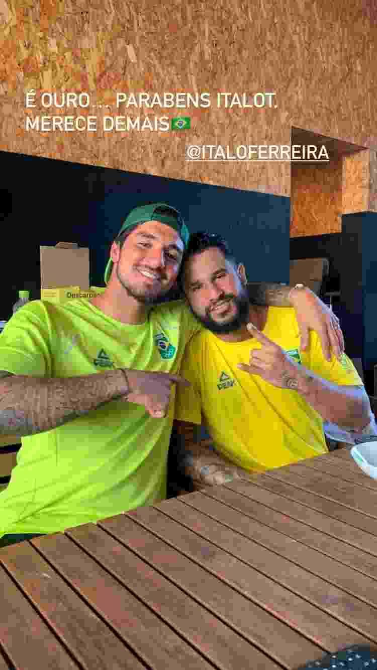 Gabriel Medina compartilhou foto com Ítalo Ferreira - Reprodução/Instagram - Reprodução/Instagram