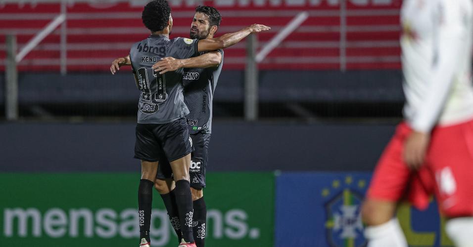 Diego Costa marcou um belo gol em seu jogo de estreia pelo Atlético-MG