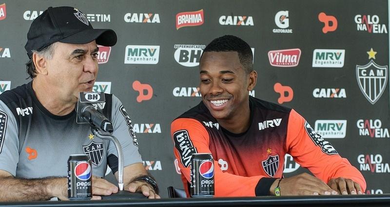 Felicidade de Robinho é tratada como um dos trunfos do Atlético-MG neste Brasileirão