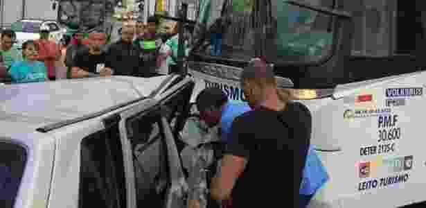 Ônibus do Figueirense sofreu acidente na parte continental de Florianópolis - Arquivo pessoal