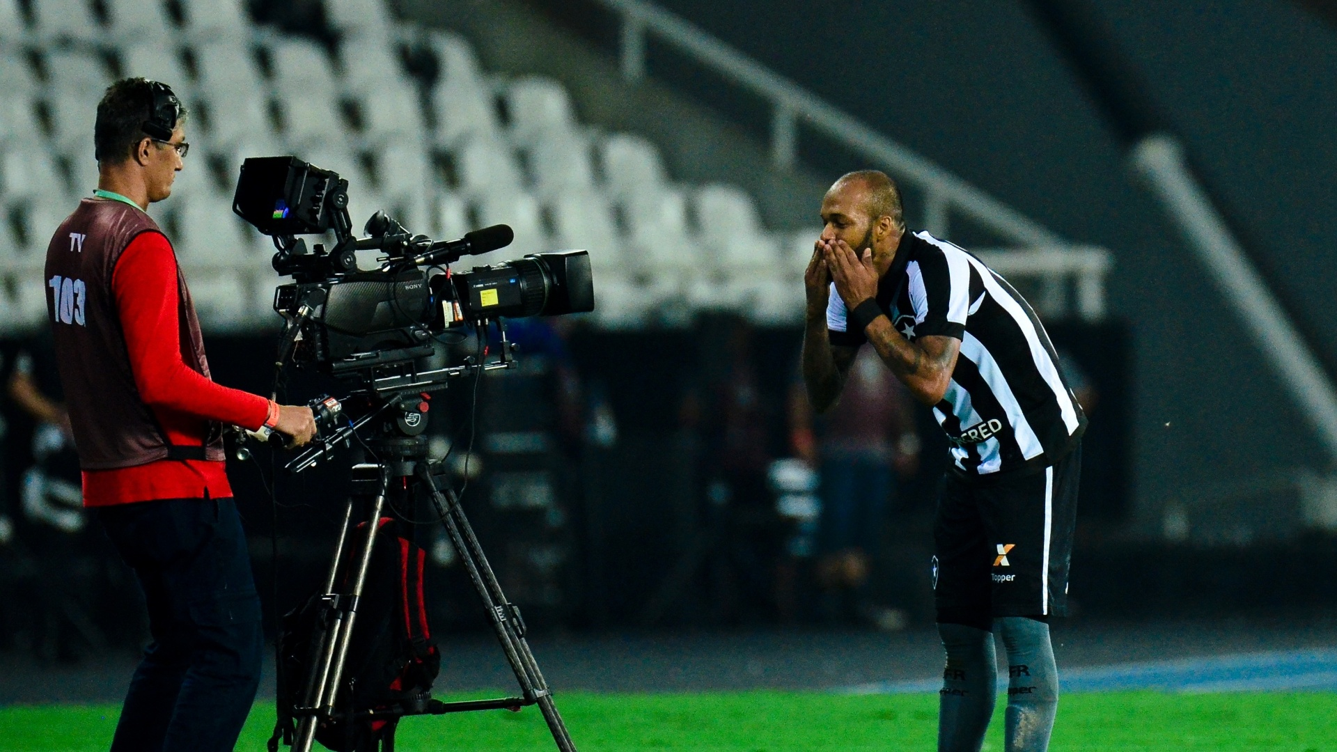 Bruno Silva marcou para o Botafogo contra o Bahia no Engenhão