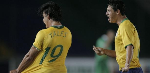 Tales, ex-Internacional, em jogo do Sub-20 da seleção brasileira