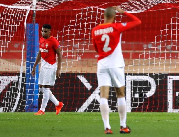 Jemerson lamenta falha em gol do RB Leipzig sobre o Monaco, pela Liga dos Campeões