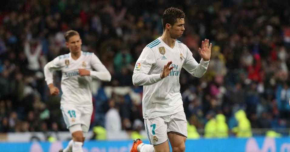 Cristiano Ronaldo comemora gol do Real Madrid contra o Getafe