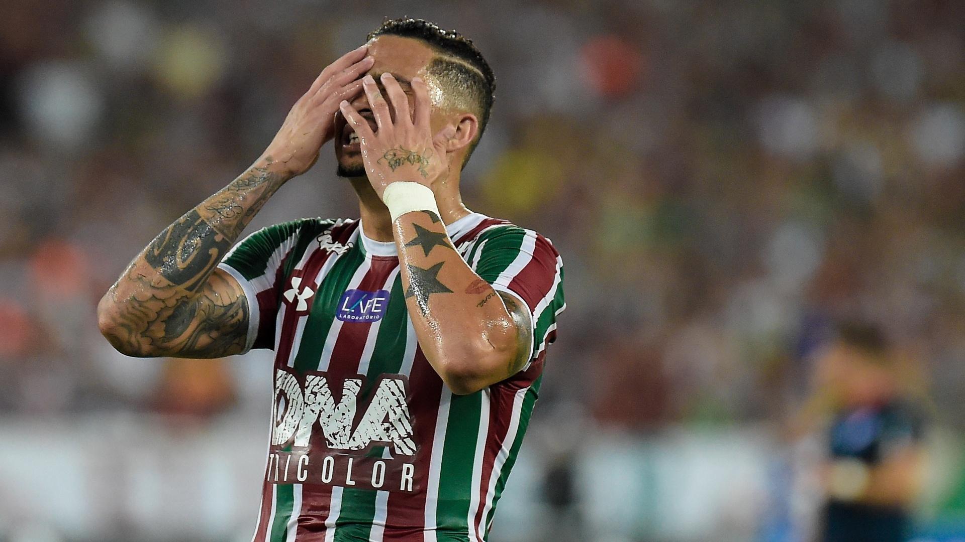 Luciano lamenta chance perdida pelo Fluminense em jogo contra o Nacional-URU