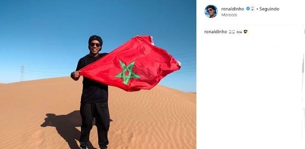 Mesmo com ordem de apreensão do passaporte, Ronaldinho viaja ao Marrocos - Reprodução/Instagram