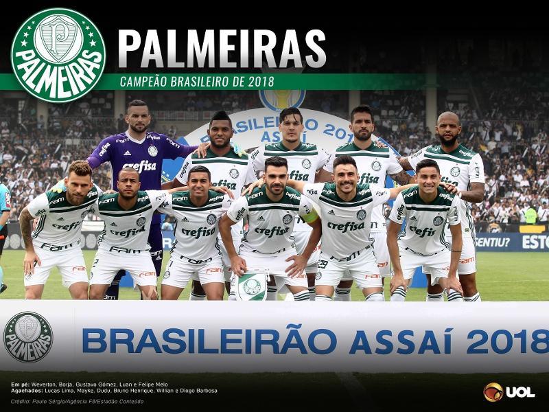 Resultado de imagem para FUTEBOL - PALMEIRAS  CAMPEÃO BRASILEIRO DA SERIE A 2018
