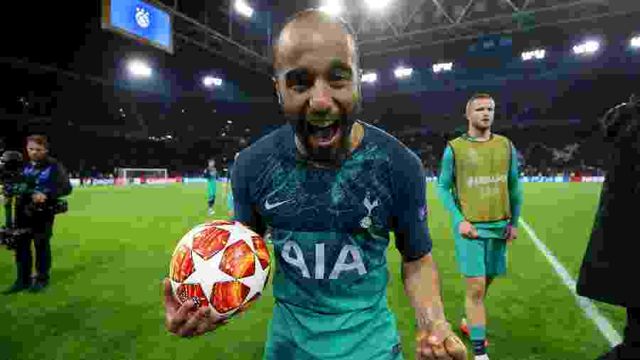 """Lucas Moura, com nota 86, integra a nossa """"Seleção B"""" ao lado de Douglas Costa e Vinícius Júnior - Tottenham Hotspur FC via Getty Images"""