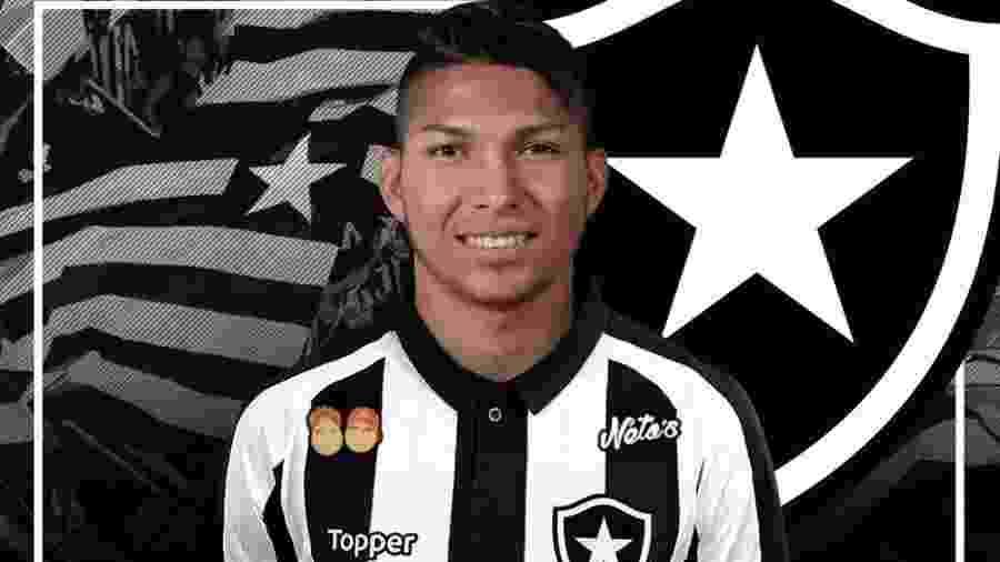 Atacante Rony chegou a ser anunciado pelo Botafogo, mas clube carioca desistiu do negócio por receio - Reprodução / Twitter do Botafogo