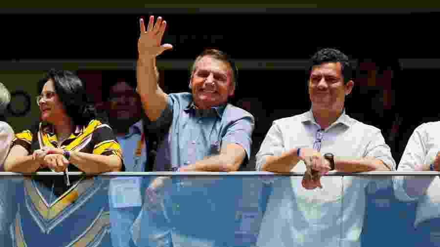 Presidente Jair Bolsonaro esteve em jogo entre Flamengo e Athletico Paranaense - ADRIANO MACHADO/REUTERS