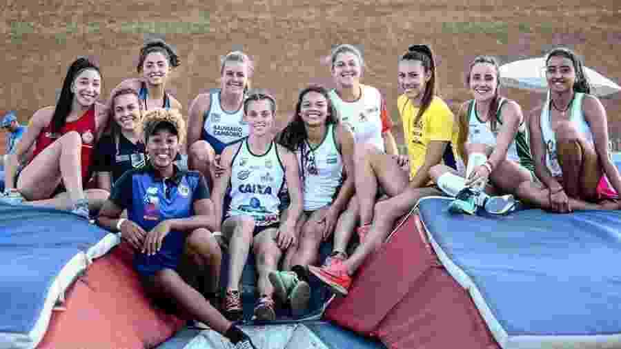 Atletas do heptatlo no Troféu Brasil de Atletismo - Wagner Carmo/CBAt