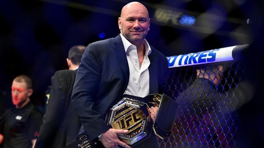 Dana White, com o cinturão do UFC - Chris Unger/Zuffa LLC via Getty Images