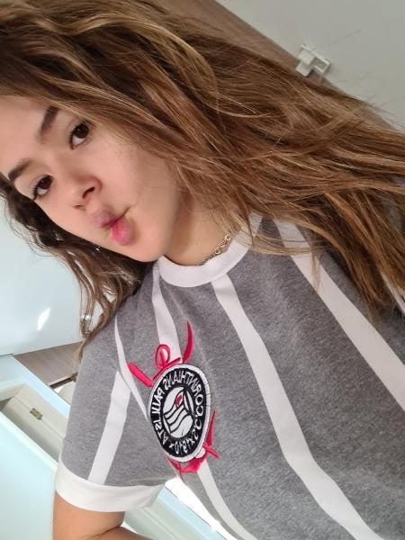 Em comentários da foto, Maisa também disse que respeita o Palmeiras - Reprodução/Twitter