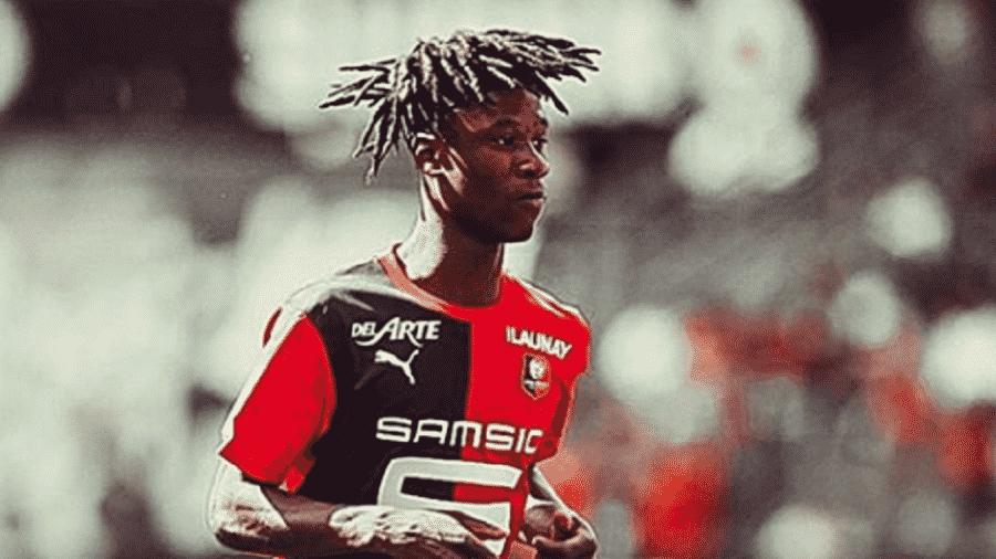 Camavinga em ação pelo Rennes, da França. Jogador é disputado por gigantes europeus - Reprodução/Instagram