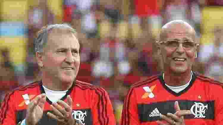 Uri Geller e Zico fizeram história juntos no Flamengo - Arquivo Terceiro Tempo/Reprodução/Facebook - Arquivo Terceiro Tempo/Reprodução/Facebook