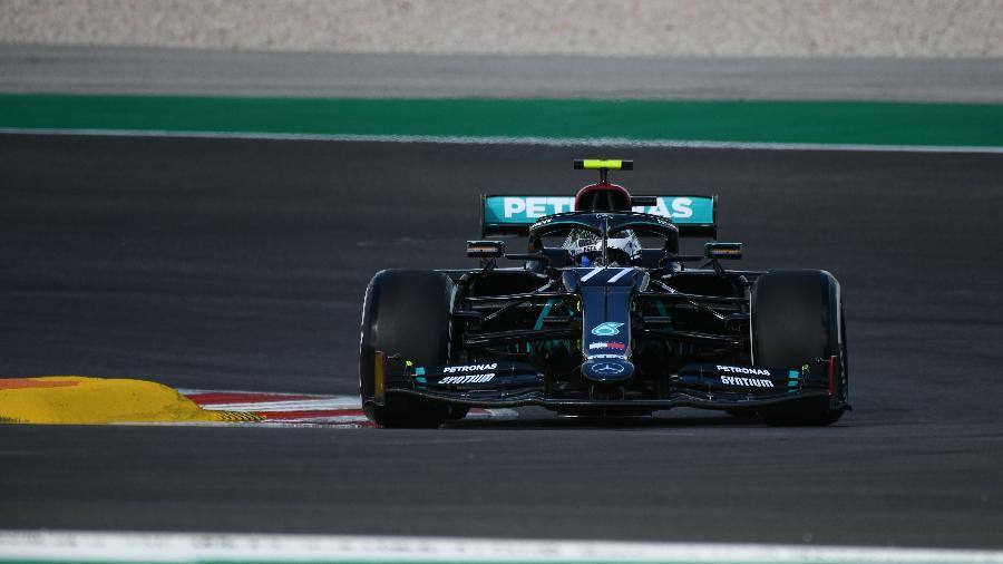 Valtteri Bottas, da Mercedes, nos treinos livres do GP de Portugual - Mercedes/Divulgação