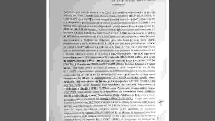 Ata assinada por presidentes de poderes do Vasco busca validar eleição do dia 7 - Reprodução - Reprodução