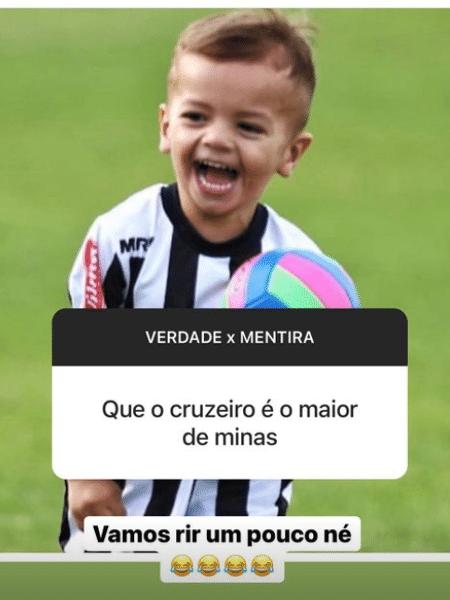 Roger Guedes provocou o Cruzeiro nos stories do Instagram - Reprodução