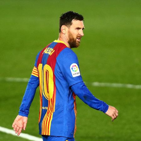 Lionel Messi durante o jogo contra o Real Madrid, em que o Barcelona usou o uniforme 4 - Sergio Perez/Reuters
