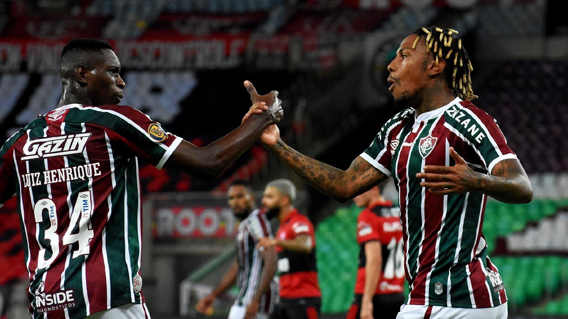 Abel Hernández, do Fluminense, empatou o placar no Maracanã