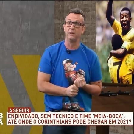 """Neto, nos programa """"Os Donos da Bola"""" - Reprodução/TV Bandeirantes"""