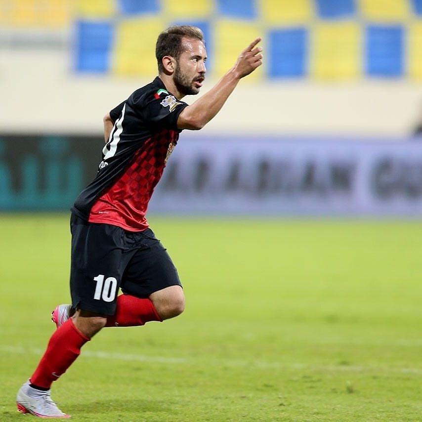 Everton Ribeiro comemora gol nos Emirados Árabes