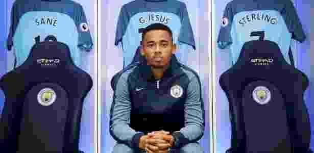 Gabriel Jesus deve estrear pelo Manchester City no próximo sábado - Divulgação/Manchester City