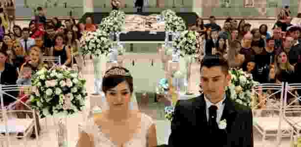 Eduardo já havia pedido Fran em casamento na Arena Corinthians - Leandro Donato/Divulgação - Leandro Donato/Divulgação
